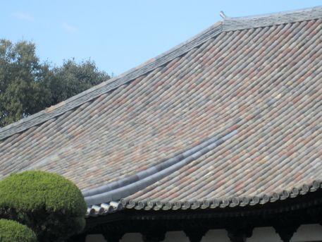 瑞花院本堂の屋根瓦