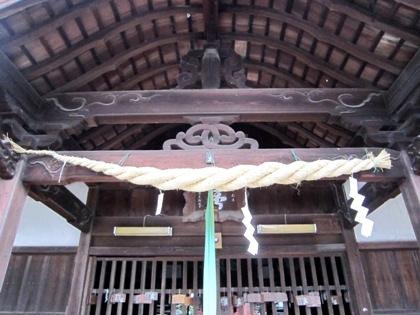 飽波神社拝殿の蟇股