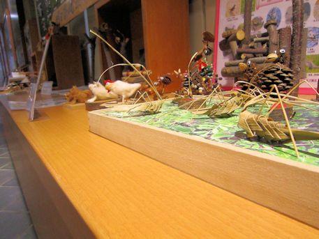 里山自然教室の木工作品