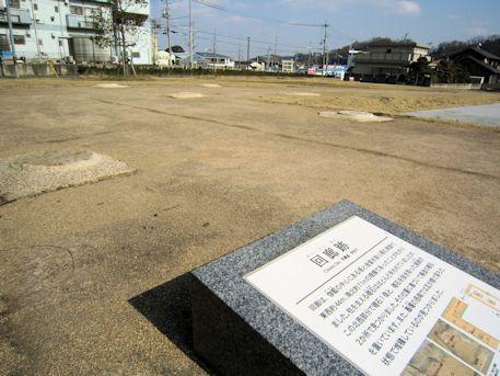 尼寺廃寺跡の回廊跡