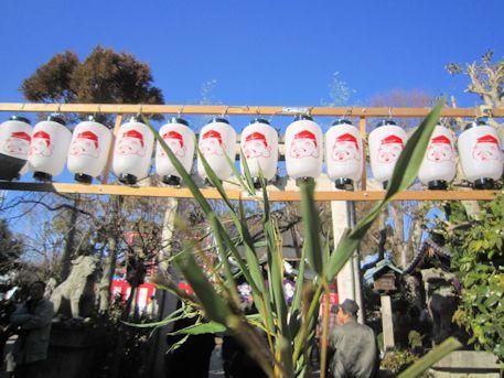 三輪坐恵比須神社の提灯