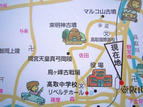 壺阪山駅周辺地図