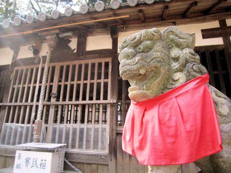 尼寺厨神社の狛犬