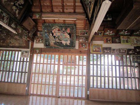 尼寺厨神社拝殿の絵馬