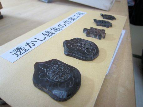 透かし銭亀の作業工程
