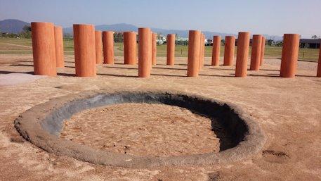 唐古鍵遺跡史跡公園の井戸復元