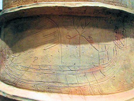 鰭付楕円筒埴輪の1号線画