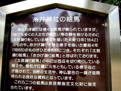 糸井神社の絵馬案内板