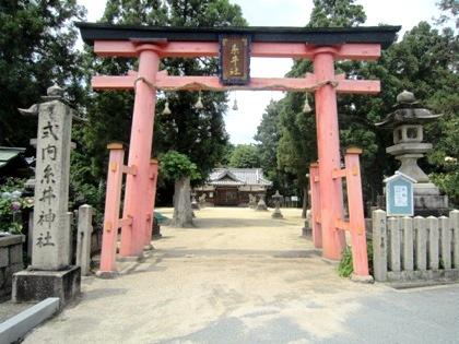 式内糸井神社の鳥居