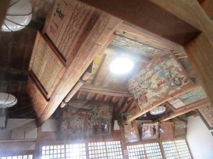 糸井神社拝殿の絵馬