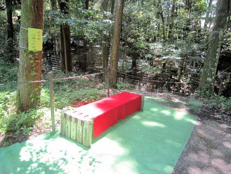 ささゆり園のベンチ