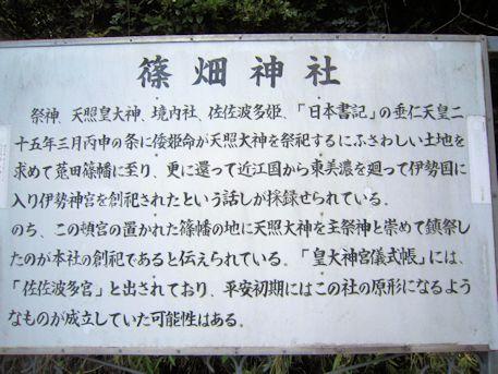 篠畑神社の解説パネル