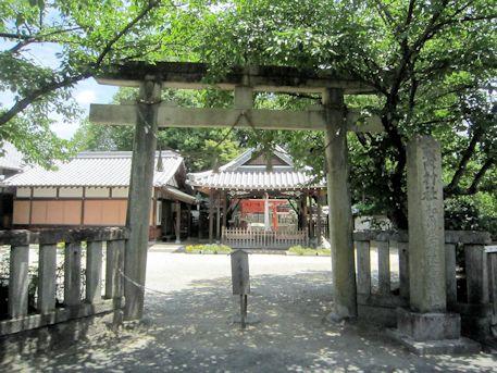 和爾坐赤坂比古神社の鳥居