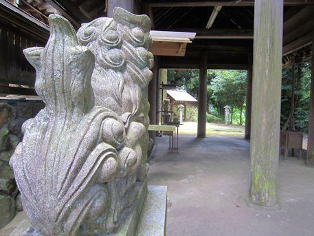 篠畑神社の狛犬