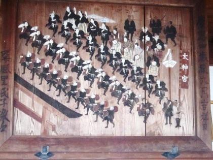 屏風杵築神社おかげ参り絵馬
