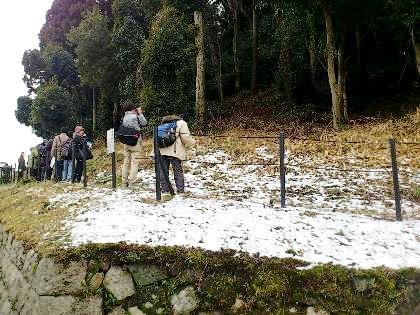 積雪の箸墓古墳