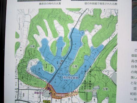 磐余池の想定範囲