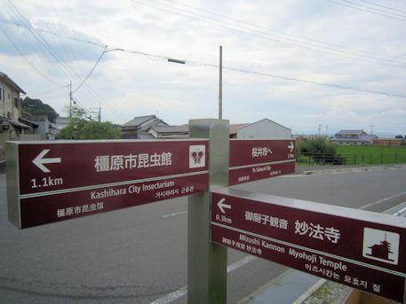 磐余池前の道