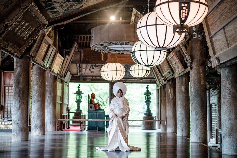 長谷寺結婚式の花嫁