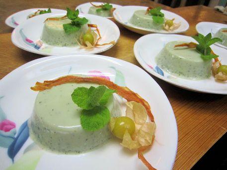 青紫蘇の豆乳パンナコッタ