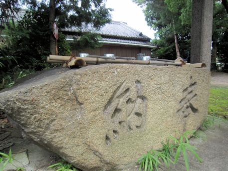 石上市神社の手水