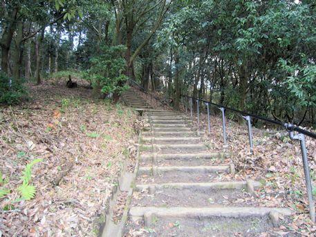 益田岩船の階段