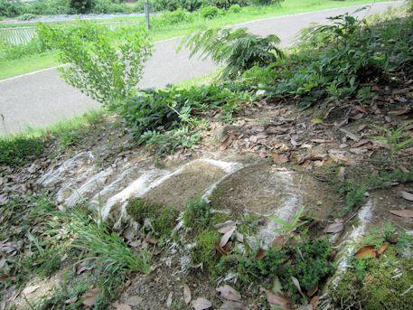 墳丘の土嚢
