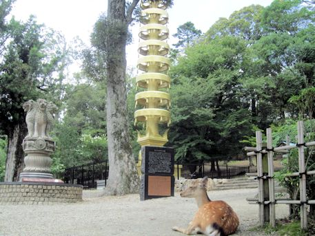 東大寺七重塔相輪とアショカ・ピラー