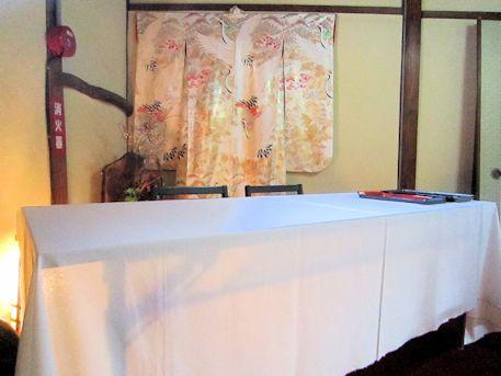 受付テーブル