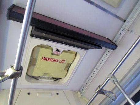 ザ・バスの緊急避難出口