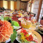 卓上装花と婚礼料理