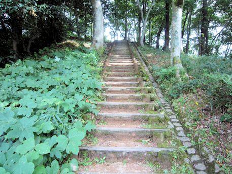 中尾山古墳の階段