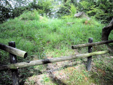 中尾山古墳の木柵