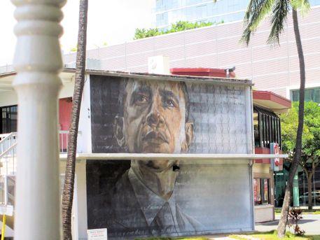 オバマ元大統領のウォールアート