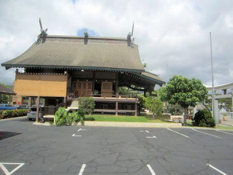 ハワイ出雲大社の駐車場