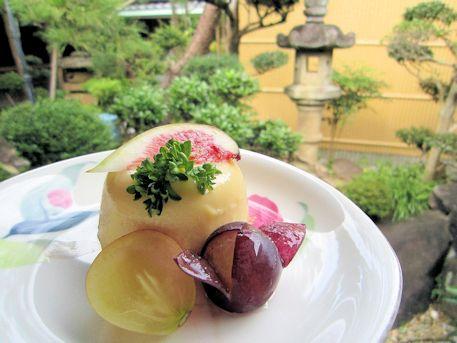 安納芋の豆乳パンナコッタ