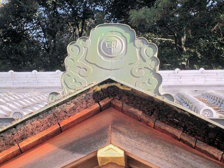 甲神社の屋根瓦