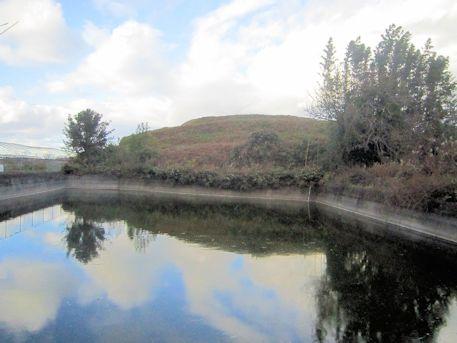 ホケノ山古墳と周濠跡