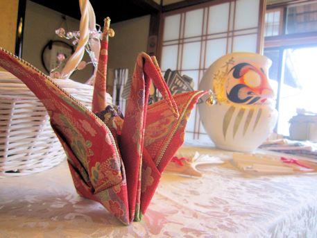 披露宴演出の鶴