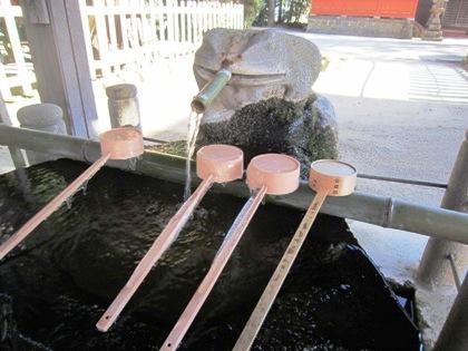 宇太水分神社の手水舎