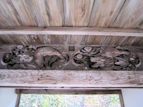 今木権現堂山門の彫刻
