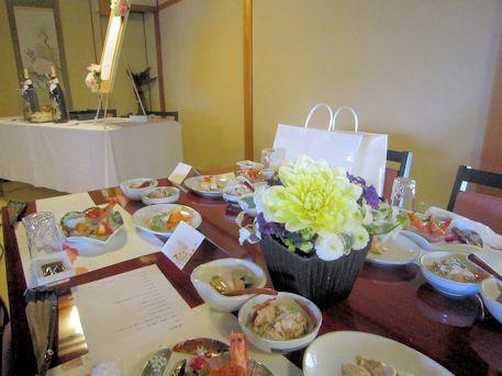 披露宴会場の受付テーブル