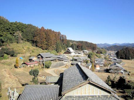 笠間山稜の景色