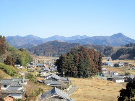 新陽明門院笠間山稜からの景色