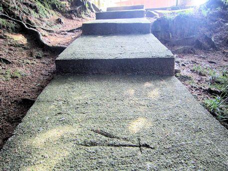 八王子神社の石段模様