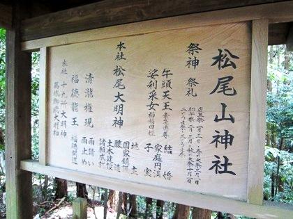 松尾山神社の御祭神