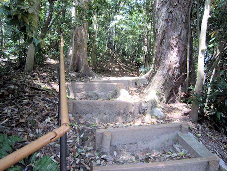 室宮山古墳の階段