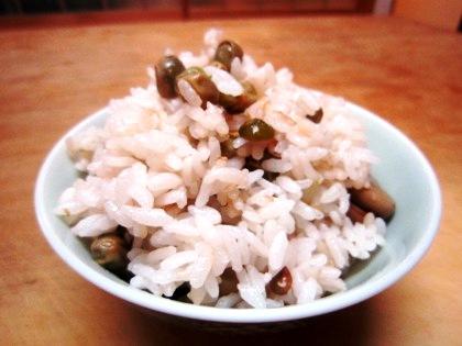 ツタンカーメン豌豆の豆御飯