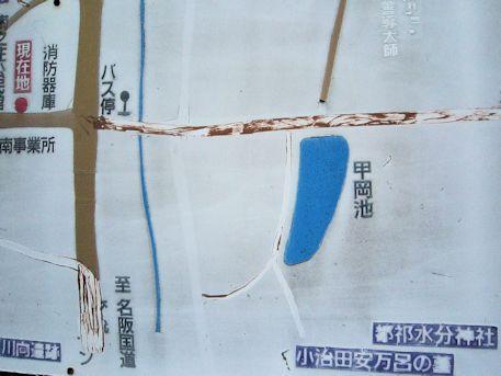小治田安萬侶墓の周辺地図
