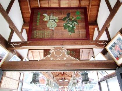 奈良豆比古神社の絵馬・蟇股